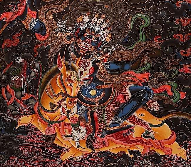 Amongst the fiercest of the fierce is the Goddess Palden Lhamo. Her description is truly chilling, but just as powerful are the results from her practice for those who have proper initiation and a teacher's guidance.