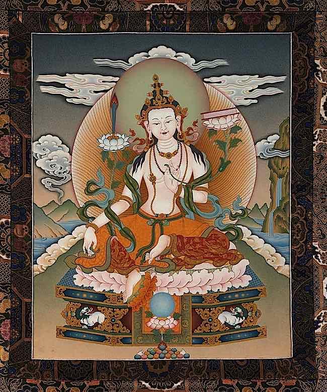Buddha-Weekly-white-manjushri-Buddhism