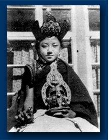 Hi Holiness Sakya Trizin as a youth.