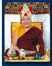 Hi Holiness Sakya Trizin, lineage holder of the Sakya Lineage. Sept 7 is his birthday.