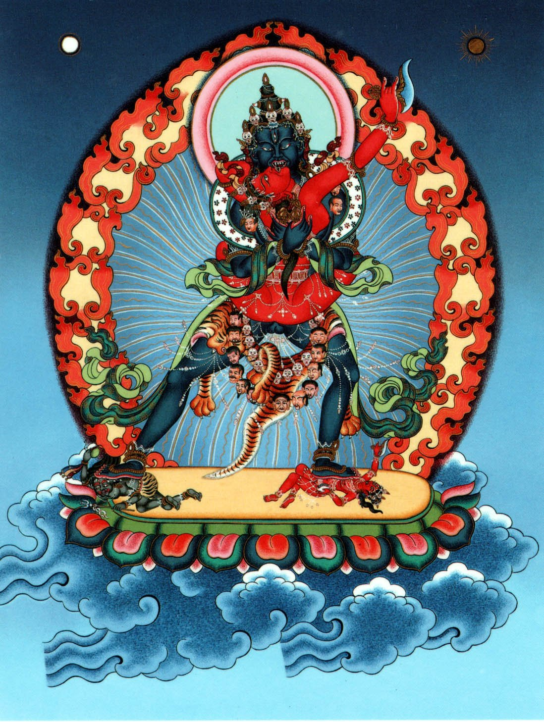 Stunning visualizations such as deities in yabyum—symbolic of the union of wisdom (female) and compassion (male) — were often misunderstood. The symbolism is profound and universal. Deity yoga visualization is growing in popularity in the West.