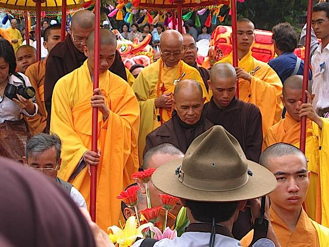 Thich Nhat Hanh, after years of exile, was finally permitted to return to Vietnam.
