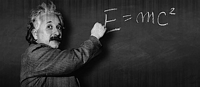 Einstein's theory of relativity.