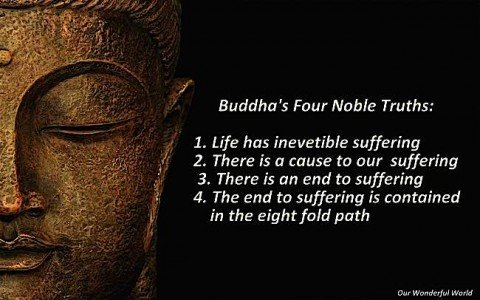 The four noble truths of Buddhism, as taught by Buddha