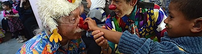 Patch Adams, M.D. uses laughter as a powerful medicine.