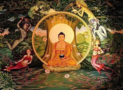 Buddha Weekly Shakyamuni under bodhi tree Buddhism