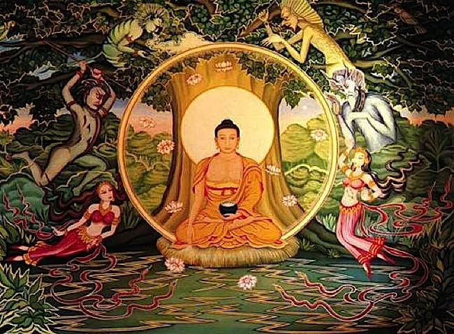 The greatest of teachers, Shakyamuni.