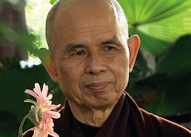 Thich Nhat Hanh, the great zen teacher.