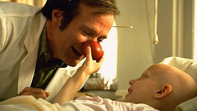 Robin Williams played Patch Adams in the movie of the same name, 1998, based on the life of Dr. Patch Adams who believed humour was the best medicine.