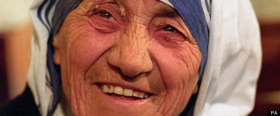 "Mother Teresa, famous for her laugh, always left people feeling ""happier."""