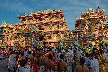 Buddha Weekly Chonguri Vegetarian Festival 2015 in Thailand Buddhism