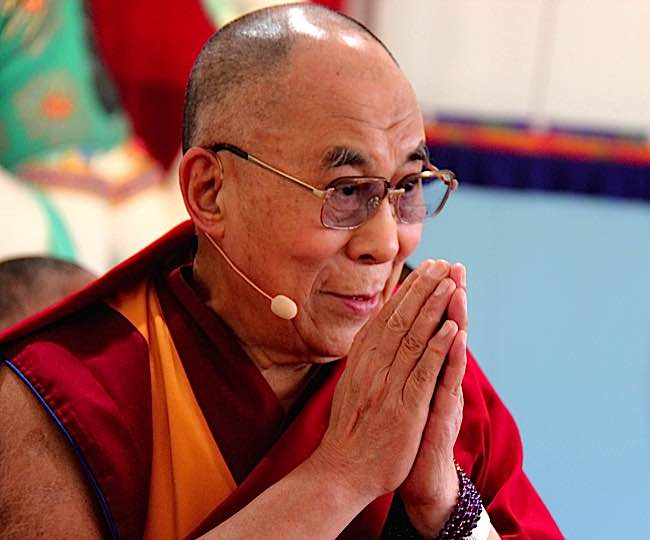 The Dalai Lama protested chicken cruelty and slaughter by a major food franchise.