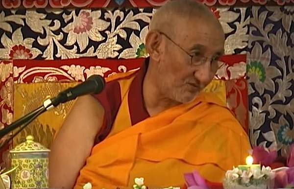 Ribur Rinpoche teching.