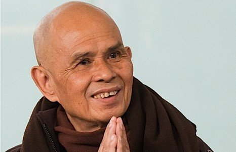 Buddha Weekly Thich Nhat Hanh smiling hands clasped Buddhism