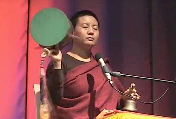 Internationally popular singing/chanting star, Tibetan Buddhist nun Ani Choying Drolma performs the Chod drum and chant. See video below.