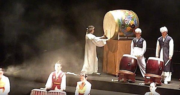 Korean drumming performance.