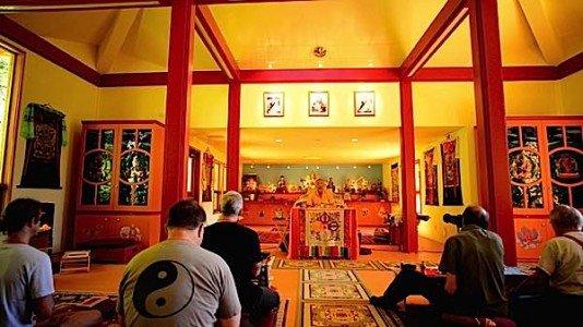 Zasep Tulku Rinpoche teaching at Gaden Tashi Choling Retreat Centre in Nelson BC.