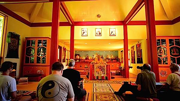 Zasep Tulku Rinpoche teaching at Gaden Tashi Choling Retreat Centre in Nelson BC.