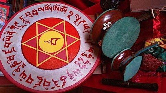 Buddha Weekly Three types of drum hoop chod damaru Buddhism