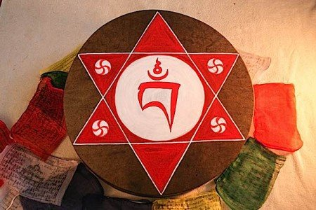 Buddha Weekly Vajrayogini Seed Syllable Hoop Drum