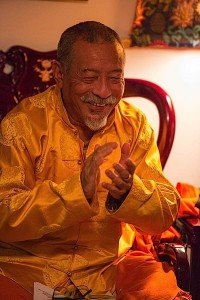 Zasep Rinpoche always has a warm smile for visitors and students.