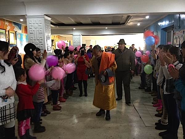 Venerable Zasep Rinpoche just returned from a visit to Mongolia, where he was welcomed at the Ulaan Baatar School for the Disabled. He is spiritual director of Gaden Relief, who donated new kitchen equipment for the school. Rinpoche visits Mongolia for both teachings and relief efforts each year.