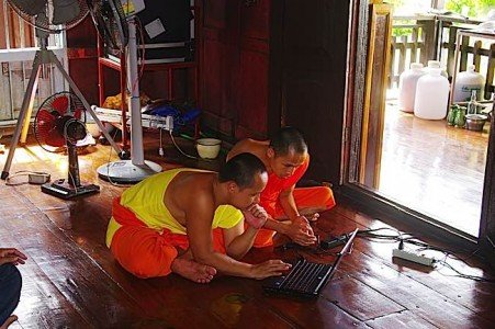 Buddha Weekly Monks in Thailand on computer dreamstime m 20907177 Buddhism