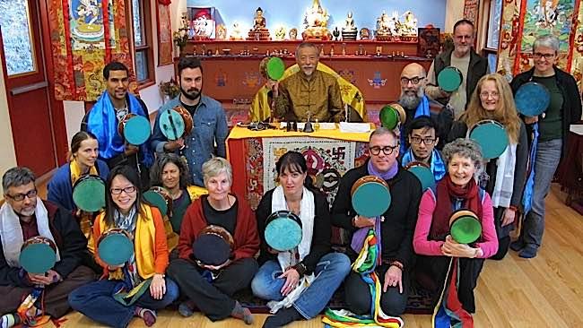 Zasep Tulku Rinpoche teaches Chod practice to advanced students.