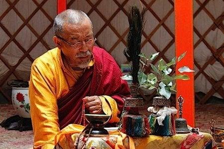 Zasep Tulku RInpoche teaching in Mongolia.