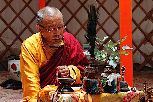 Zasep Tulku RInpoche teaching in Mongolia.
