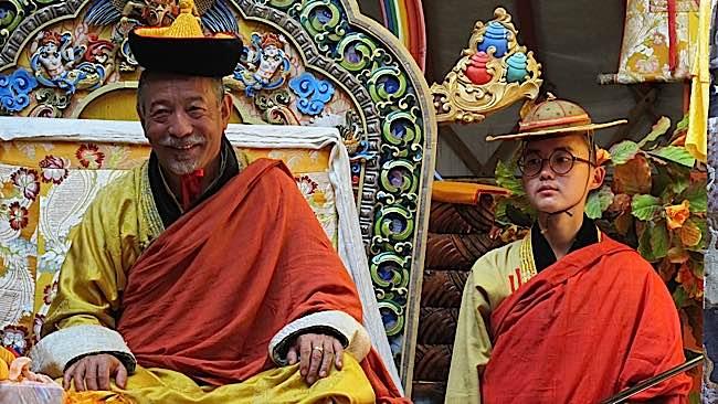 Zasep Tulku Rinpoche teaching in Mongolia. Wrathful deities are very popular in Mongolia.
