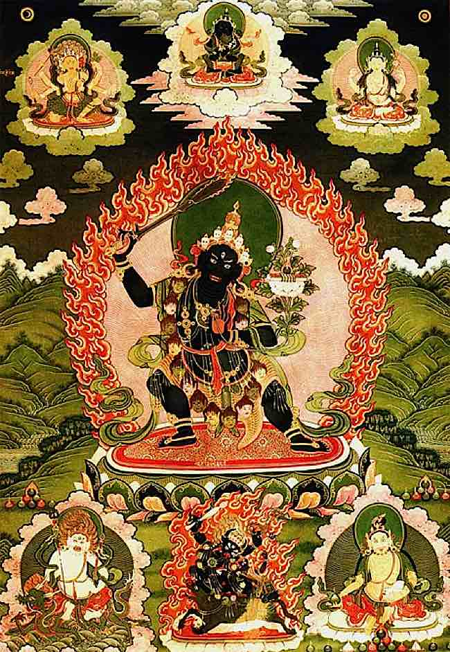 Many students and teachers turn to Black Manjushri as healing meditational deitiy for aggressive diseases such as Cancer and Aids.