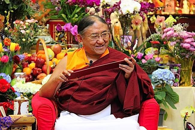 His Holiness the Sakya Trizin often offers initiation in Black Manjushri.