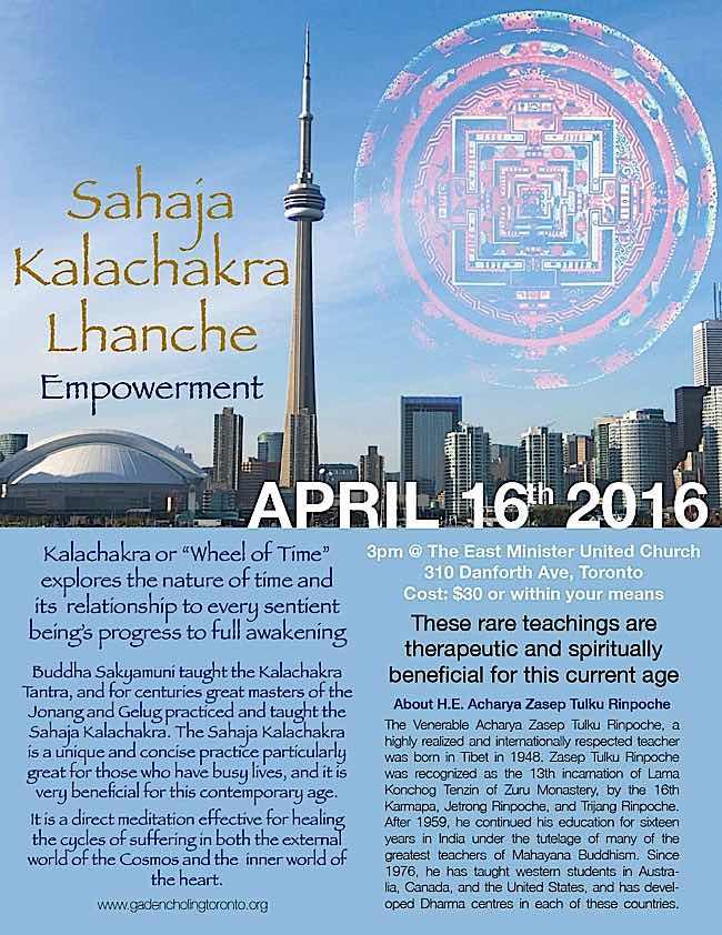 Buddha-Weekly-Sahaj Kalachakra Lhanche Empowerment Gaden Choling-Buddhism