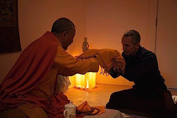 Zasep Tulku Rinpoche with Theodore Tsaousidis (right).