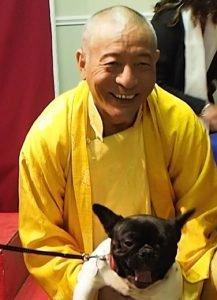 Buddha Weekly Zasep Rinpoche with Canine Friend at Medicine Buddha Retreat Buddhism