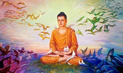 Buddha with the birds
