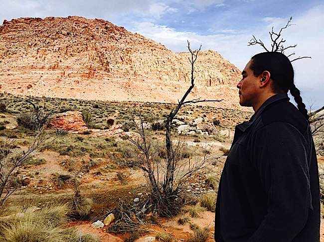 "Sean ""Walking Bear"", a Cree Medicine Man, moved from Alberta to Nevada."