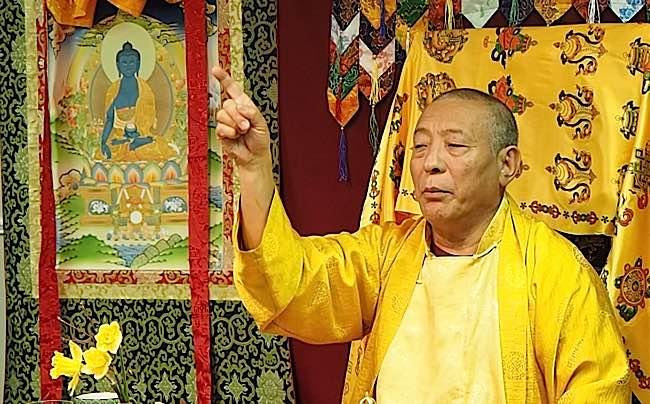 Acharya Zasep Tulku Rinpoche teaching Tibetan Buddhist La Gug.