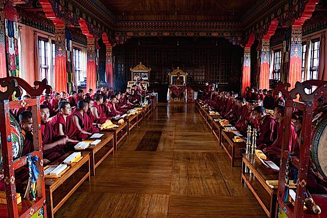 A formal retreat might be in a retreat centre, meditation centre or monastery. Monks and lay people are usually encouraged to find time for retreat.