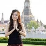 Buddha Weekly Anjali Mudra woman in Tailand Buddhism