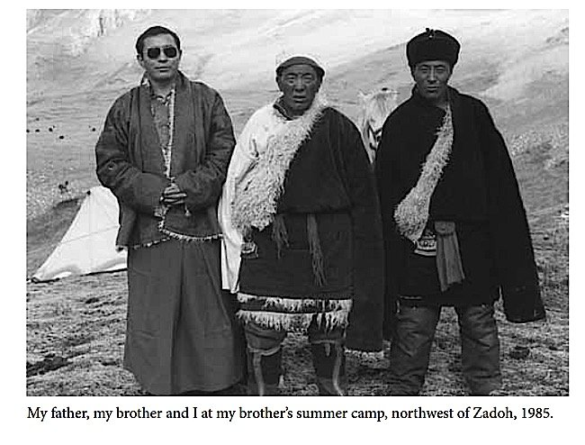 Buddha Weekly A Zasep Rinpoche with brother and father in Tibet Buddhism