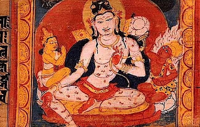 Avalokiteśvara. Aṣṭasāhasrikā Prajñāpāramitā Sūtra manuscript. Nālandā, Bihar, India.