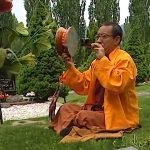 Buddha Weekly Rinpoche Zasep with Chod Drum in Cemetary Buddhism