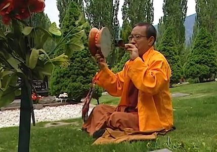 Buddha Weekly Rinpoche Zasep with Chod Drum in Cemetary copy Buddhism