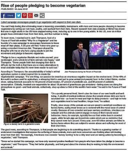 Buddha Weekly Sample news story eliminate meat consumption Buddhism