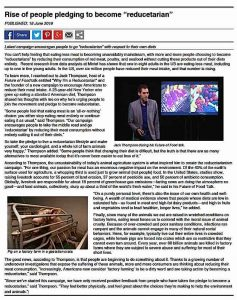 Buddha Weekly Sample news story reduce meat consumption Buddhism