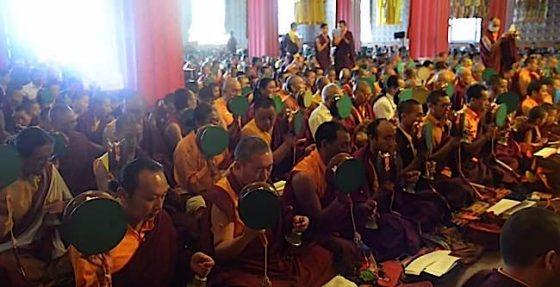 Buddha Weekly Troma Tsog with Dudjom Yangsi Rinpoche 2 Samje Djedren Ani Gompa Nepal 2014 Buddhism