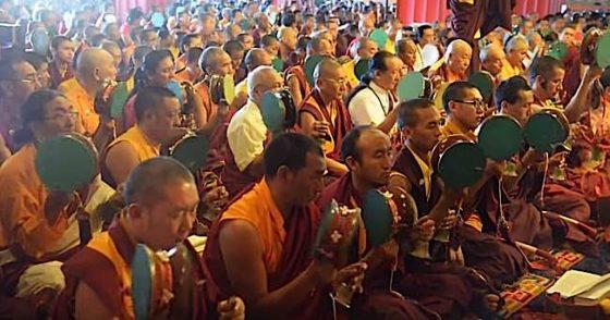 Buddha Weekly Troma Tsog with Dudjom Yangsi Rinpoche 3 Samje Djedren Ani Gompa Nepal 2014 Buddhism