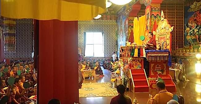 Chod practice with Dudjom Yangsi Rinpoche Samje Djedren Ani Gompa Nepal in 2014.